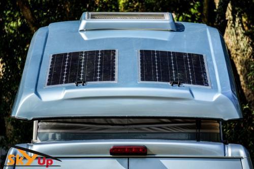 Pannelli fotovoltaici tetto a soffietto